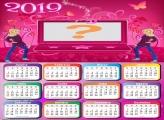 Calendário 2019 Barbie Jovem Notebook