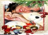 Moldura Crianças no Natal