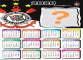 Calendário 2020 do Timão Foto Montagem