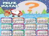 Calendário 2022 Desejo um Feliz Natal Virtual