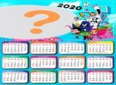 Moldura Calendário 2020 Jovens Titãs