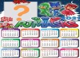 Calendário 2021 PJ Masks de Natal Foto Montagem
