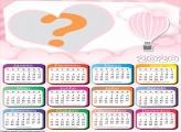 Calendário 2020 Online Balão de Ar