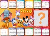 Moldura Calendário 2020 Baby Disney Horizontal