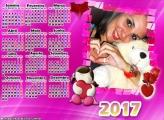 Calendário 2017 Amor Cor de Rosa