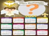 Calendário 2021 Meu Batizado Montagem de Foto