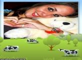 Moldura Vacas Desenhadas