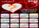 Calendário 2022 Feliz Aniversário Namoro Online Grátis