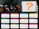 Calendário 2020 Vingadores Avengers Montagem pra Fotos