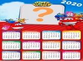 Calendário 2020 Lembrancinha Super Wings