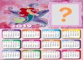 Calendário 2019 Estrela Ariel