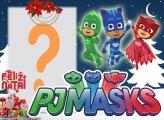 Feliz Natal Infantil PJ Masks Montagem de Foto