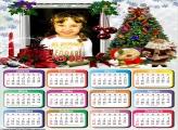 Calendário 2018 Natal Árvore e Papai Noel