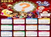 Calendário 2021 Polly Pocket de Natal Moldura