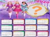 Calendário 2020 Barbie para Imprimir