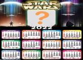 Calendário 2022 Star Wars Moldura de Foto