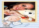Moldura Gatinho e Bebê