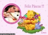 Urso Pooh Cestinha de Páscoa