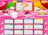 Calendário 2020 Hello Kitty Montagem Digital