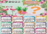 Calendário 2022 Flamingo Tropical Tema Online