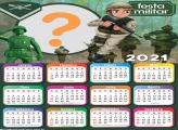 Calendário 2021 Tema Militar de Aniversário