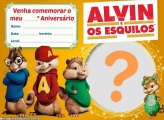 Convite Alvin e os Esquilos