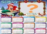 Calendário 2021 Pequena Sereia Feliz Natal