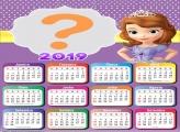Calendário 2019 Sofia Princesa