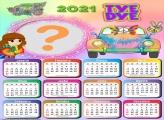 Colagem de Fotos Online Calendário 2021 Tye Dye