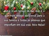 Deseje paz nesse Natal