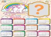 Calendário 2020 de Unicórnio Candy Color