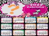 Calendário 2022 Zebrinha Pink Fazer Foto Grátis