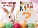 Feliz Páscoa a Todos Foto Montagem Grátis