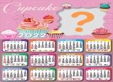 Emoldurar Grátis Calendário 2022 Cupcake