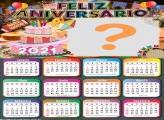 Calendário 2021 de Feliz Aniversário Festa Junina