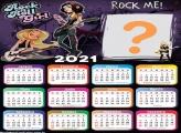 Calendário 2021 Foto Grátis Rock in Roll Girls