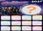 Calendário 2021 Vingadores Montagem Digital
