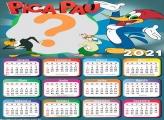 Calendário 2021 Pica Pau para Colar Foto