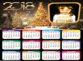 Árvores Iluminadas de Natal Calendário 2018