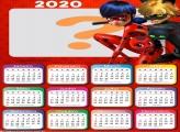 Calendário 2020 Ladybug Moldura Infantil