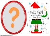 Moldura Infantil Feliz Natal para Crianças