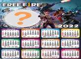 Calendário 2022 Free Fire Foto Moldura