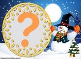 Moldura de Natal Boneco de Neve