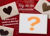 Foto Moldura Online Dia dos Namorados Frase