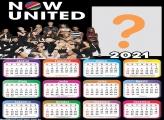 Calendário 2021 Now United Colagem de Foto