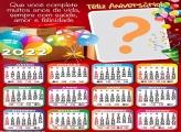 Calendário 2022 Frase Feliz Aniversário Virtual