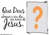 Dia abençoado por Deus Moldura
