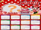 Calendário 2021 Aniversário da Minnie