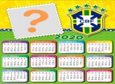 Calendário 2020 Brasil CBF Moldura