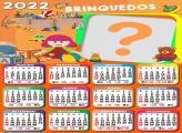 Colagem Grátis Calendário 2022 Brinquedos